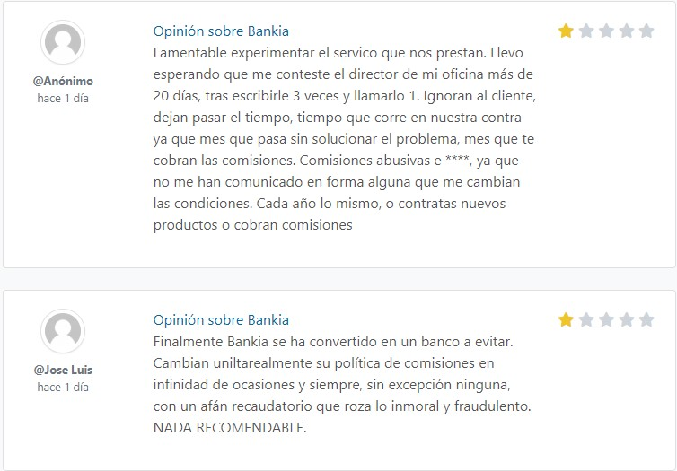 bankia opiniones